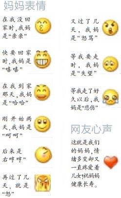 妈妈9个QQ表情盼儿归 网友:看红了眼眶