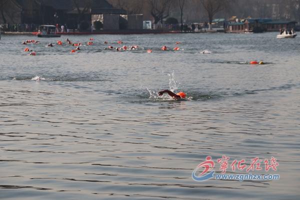 宁化冬泳健儿 搏击泉城赛场