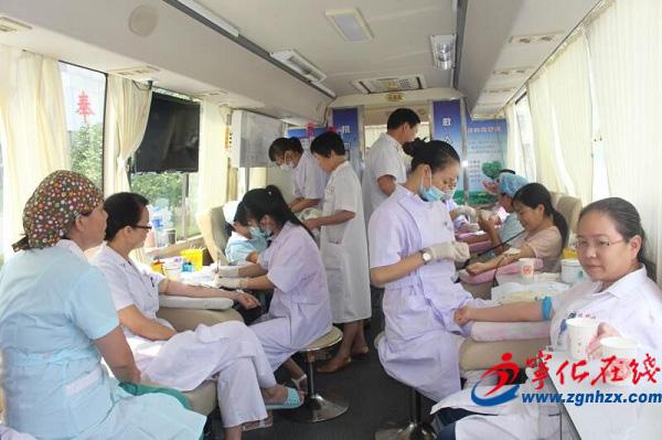 宁化近百名卫计系统干部职工带头献血