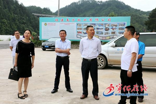 省供销社副主任占飞豹来宁化调研