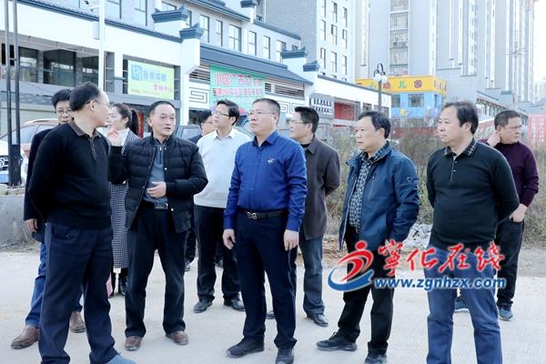 宁化县委书记余建地调研城市建设重点项目