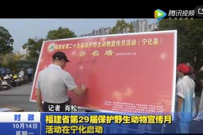 福建省第(di)29屆保護野生動物宣傳月活動在寧化(hua)啟動