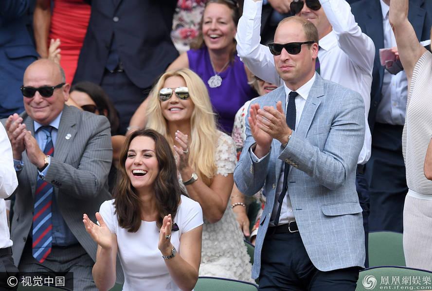 凯特王妃威廉王子看比赛 互动甜蜜有爱